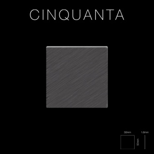Mosaik Fliese massiv Metall Titan gebürstet in dunkelgrau 1, 6mm stark ALLOY Cinquanta-Ti-SB 0, 94 m2 - Vorschau 2