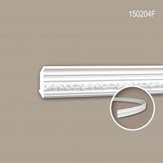 Eckleiste PROFHOME 150204F Zierleiste Flexible Leiste Stuckleiste Neo-Empire-Stil weiß 2 m