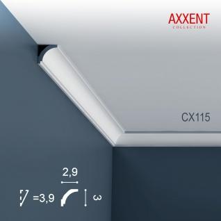 Zierleiste Profilleiste Orac Decor CX115 AXXENT Stuck Profil Eckleiste Wand Leiste Decken Leiste | 2 Meter