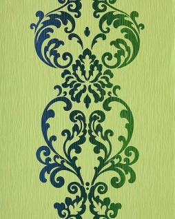 Barock Tapete Vintage EDEM 178-25 Tapete Modern Art Ornamente kiwi-grün olive blau perlmutt