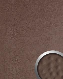 Wandpaneel Strauß Leder Luxus 3D WallFace 13403 OSTRICH Blickfang Dekor selbstklebend Tapete Verkleidung braun | 2, 60 qm