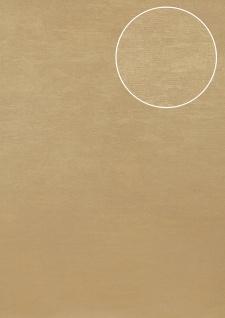 Uni Tapete Atlas TEM-5114-4 Vliestapete strukturiert im Shabby Chic Stil schimmernd gold elfenbein perl-beige creme-weiß 7, 035 m2