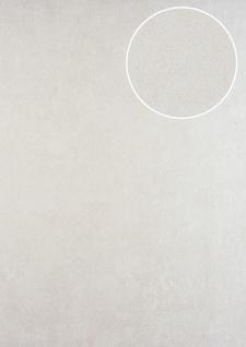 Ton-in-Ton Tapete ATLAS HER-5137-2 Vliestapete geprägt im Shabby Chic Stil schimmernd creme perl-weiß 7, 035 m2