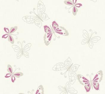 Tiermotiv Tapete Profhome 347651-GU Vliestapete glatt mit Natur-Mustern matt violett silber 5, 33 m2