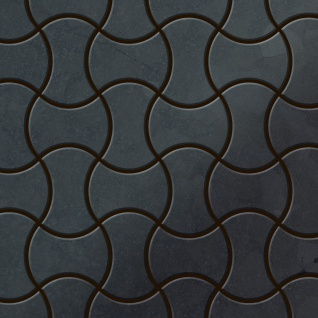 Mosaik Fliese massiv Metall Rohstahl gewalzt in grau 1, 6mm stark ALLOY Infinit-RS Designed by Karim Rashid 0, 91 m2