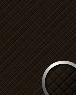 Wandpaneel Leder Design Karo Muster WallFace 15036 ROMBO Wandplatte Wandverkleidung selbstklebend braun | 2, 60 qm