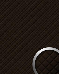 Wandpaneel Leder Design Karo Muster WallFace 15036 ROMBO Wandplatte Wandverkleidung selbstklebend braun 2, 60 qm