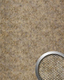 Wandplatte 3D Runddekor geprägt Paneel selbstklebend WallFace 17241 RACE Wandpaneel Design kupfer-braun silber | 2, 60 qm