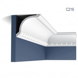 Zierleiste Orac Decor C216 LUXXUS Eckleiste Deckenleiste Stuckleiste Decken Wand Leiste klassisch 2 Meter