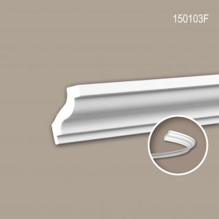 Eckleiste PROFHOME 150103F Zierleiste Flexible Leiste Stuckleiste Neo-Klassizismus-Stil weiß 2 m