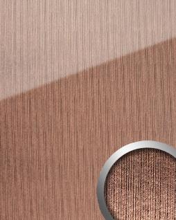 Wandpaneel Glas-Optik WallFace 20217 ALIGNED Rose AR+ Wandverkleidung glatt in Hochglanz-Optik spiegelnd selbstklebend abriebfest rosa bronze 2, 6 m2