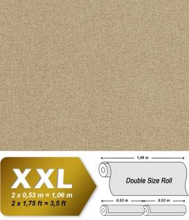 Textiloptik Tapete EDEM 9163-03 heißgeprägte Vliestapete geprägt mit Struktur schimmernd beige 10, 65 m2