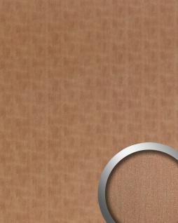 Wandpaneel Metalloptik WallFace 20199 SLIGHTLY USED Copper AR Wandverkleidung glatt im Used Look gebürstet selbstklebend abriebfest kupfer braun-grau 2, 6 m2