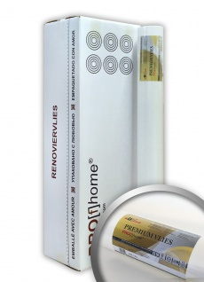 Renoviervlies Profhome 150 g 6 Rollen 150 m2 PremiumVlies Anstrichvlies Objektvlies Untertapete rissüberbrückend glatt