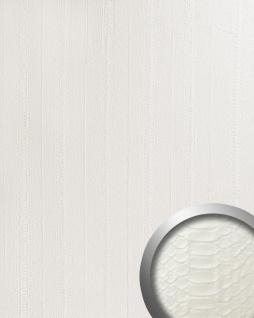 Wandpaneel Schlangenhaut Optik WallFace 15043 SNAKE Design Leder Dekor selbstklebende Tapete Verkleidung weiß 2, 60 qm