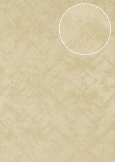 Grafik Tapete Atlas SIG-580-2 Vliestapete strukturiert mit abstraktem Muster schimmernd elfenbein perl-weiß hell-elfenbein 5, 33 m2