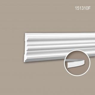 Wand- und Friesleiste PROFHOME 151310F Stuckleiste Flexible Leiste Zierleiste Zeitloses Klassisches Design weiß 2 m