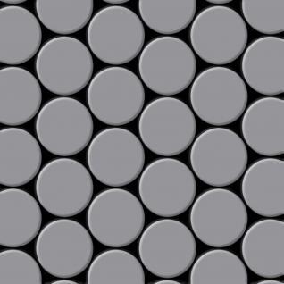 Mosaik Fliese massiv Metall Edelstahl matt in grau 1, 6mm stark ALLOY Dome-S-S-MA 0, 73 m2