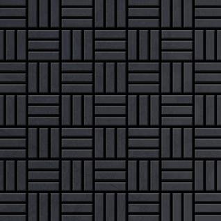 Mosaik Fliese massiv Metall Rohstahl gewalzt in grau 1, 6mm stark ALLOY Basketweave-RS 0, 82 m2