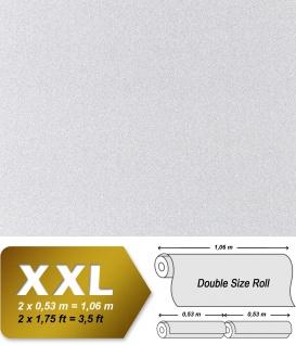 Stein Vliestapete EDEM 998-39 XXL Buntsteinputz Struktur Granit-Mosaikputz gesprenkelt weiß hellgrau 10, 65 qm