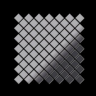 Mosaik Fliese massiv Metall Edelstahl marine hochglänzend in grau 1, 6mm stark ALLOY Diamond-S-S-MM 0, 91 m2 - Vorschau 3