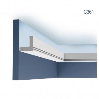 Stuck Wandleiste Orac Decor C361 LUXXUS Eckleiste Zierleiste für indirekte Beleuchtung Wand Dekor Leiste | 2 Meter