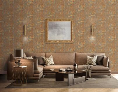 Textiloptik Tapete Profhome DE120096-DI heißgeprägte Vliestapete geprägt mit abstraktem Muster schimmernd kupfer gold beige 5, 33 m2 - Vorschau 2