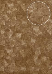 Präge Tapete Atlas STI-5102-4 Vliestapete geprägt in Lederoptik schimmernd braun grau-beige blass-braun oliv-braun 7, 035 m2