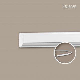 Wand- und Friesleiste PROFHOME 151305F Stuckleiste Flexible Leiste Zierleiste Neo-Klassizismus-Stil weiß 2 m