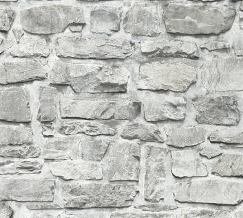 Stein Kacheln Tapete Profhome 363701-GU Vliestapete glatt in Steinoptik matt grau beige 5, 33 m2 - Vorschau 1