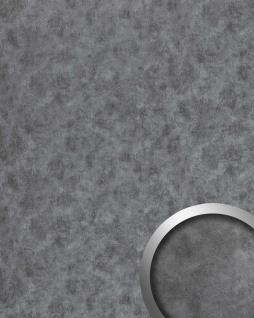 Wandpaneel Metalloptik WallFace 20190 OXIDIZED Wandverkleidung im Rost-Vintage Look und mit metallischen Akzenten selbstklebend titan grau 2, 6 m2