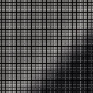 Mosaik Fliese massiv Metall Titan hochglänzend in dunkelgrau 1, 6mm stark ALLOY Glomesh-Ti-SM 1, 07 m2