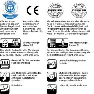 MEISTER 457 Klick Laminat Laminatboden Kirsche Holz-Nachbildung 3-Stab Schiffsboden | 3, 06 qm / 12 Dielen - Vorschau 5