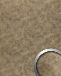 Wandpaneel Metalloptik WallFace 20188 OXIDIZED Nickel Wandverkleidung im Vintage Look Rost-Optik selbstklebend abriebfest braun 2, 6 m2