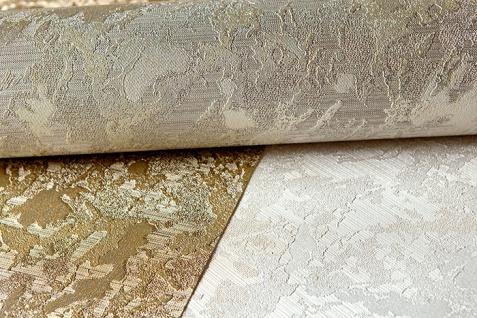 Uni Tapete EDEM 9011-37 Vliestapete geprägt in Spachteloptik glänzend creme weiß silber 10, 65 m2 - Vorschau 2