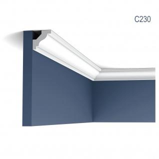 Stuckleiste Orac Decor C230 LUXXUS Eckleiste Zierleiste Decken Stuckgesims Wand Dekor Profil Dekorleiste 2 Meter