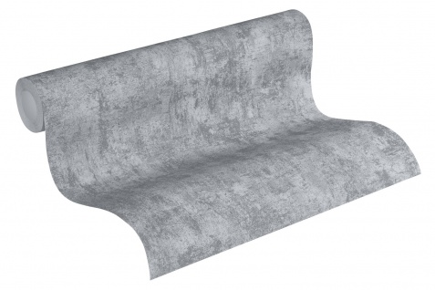 Stein Kacheln Tapete Profhome 224019-GU Vliestapete leicht strukturiert in Steinoptik matt grau 5, 33 m2 - Vorschau 2