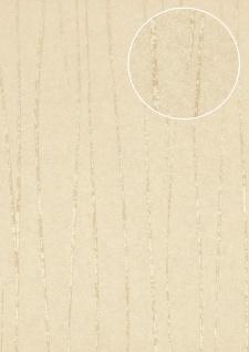 Streifen Tapete Atlas COL-567-4 Vliestapete glatt Design schimmernd weiß creme-weiß grau-weiß 5, 33 m2
