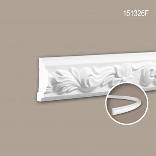 Wand- und Friesleiste PROFHOME 151326F Stuckleiste Flexible Leiste Zierleiste Rokoko Barock Stil weiß 2 m