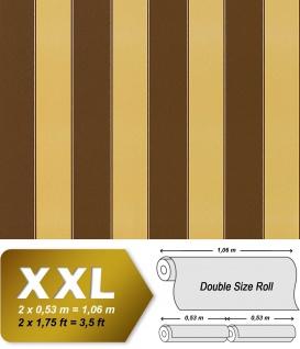 Streifen Vliestapete EDEM 947-22 Hochwertige XXL Luxus Tapete klassische Streifen gelb braun kupfer 10, 65 qm