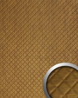 Wandpaneel Leder Design Karo Muster Wandplatte WallFace 17850 ROMBO Oxy Wandverkleidung selbstklebend braun | 2, 60 qm