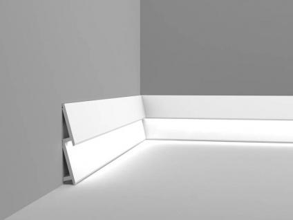 Sockelleiste Orac Decor SX179 MODERN DIAGONAL Zierleiste Fußleiste Modernes Design weiß 2m - Vorschau 3
