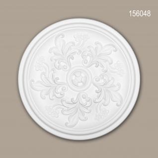Rosette PROFHOME 156048 Zierelement Deckenelement Rokoko Barock Stil weiß Ø 36, 4 cm