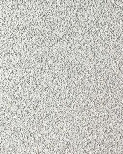 Uni Tapete EDEM 204-40 Dekorative Vinyl-Schaum-Tapete weiß rauhfaser putz optik 7, 95 qm - 15 Meter