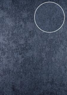 Uni Tapete ATLAS HER-5141-1 Vliestapete strukturiert mit Struktur schimmernd grau grau-blau 7, 035 m2
