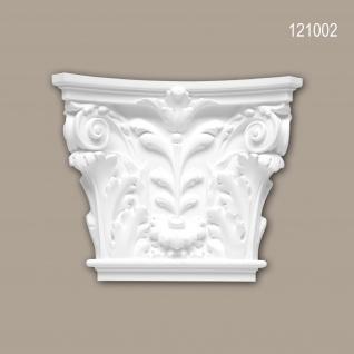 Pilaster Kapitell PROFHOME 121002 Zierelement Korinthischer Stil weiß