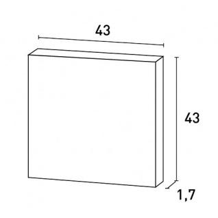 Türaufdopplung abgeplattet von Orac Decor D506 LUXXUS Wand Paneel Dekor Element Verkleidung Kunstoffplatte weiß - Vorschau 2