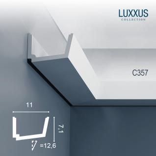 Stuck Zierleiste Orac Decor C357 LUXXUS Eckleiste für indirekte Beleuchtung Gesims Deckenleiste | 2 Meter - Vorschau 1