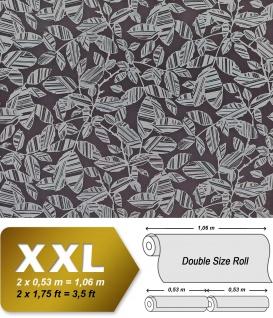 Blumen Tapete XXL Vliestapete EDEM 923-39 Elegantes florales Design Muster Metallic Effekt grau schwarz-grau silber platin 10, 65 m2