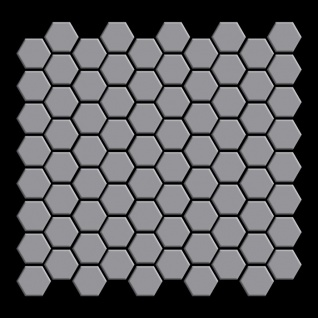 Mosaik Fliese massiv Metall Edelstahl matt in grau 1, 6mm stark ALLOY Honey-S-S-MA 0, 92 m2 - Vorschau 3